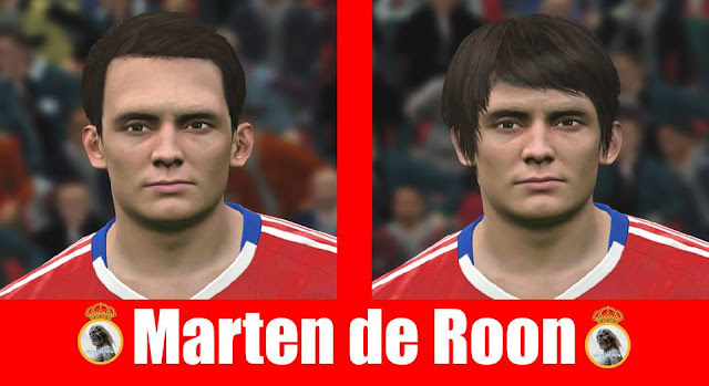 PES 2017 Marten de Roon (Middlesbrough) face by Jarray & The White Demon Facemakers