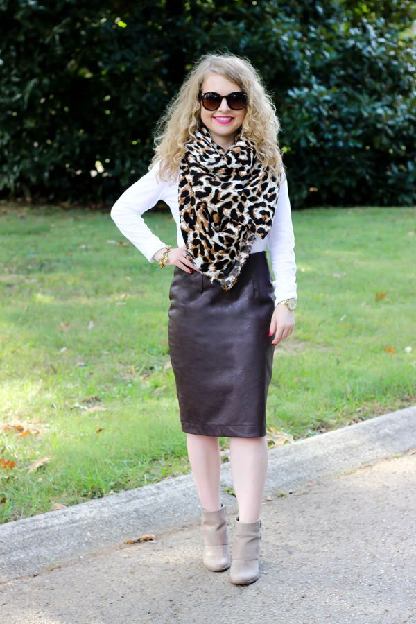 Asos  Leopard Scarf, Lawyer Lookbook