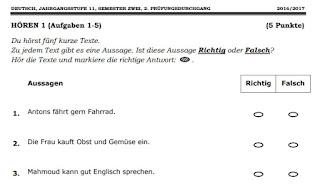 اختبارات اللغة الالمانية للصف الحادي عشر