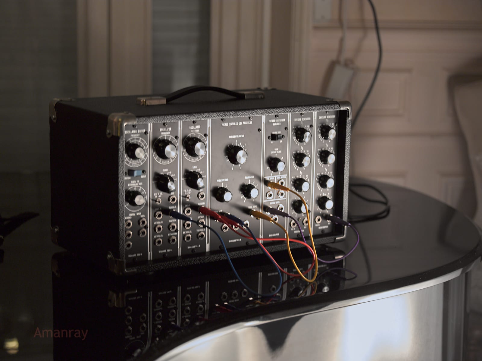 matrixsynth moog model 8a modular synthesizer clone by moslab. Black Bedroom Furniture Sets. Home Design Ideas