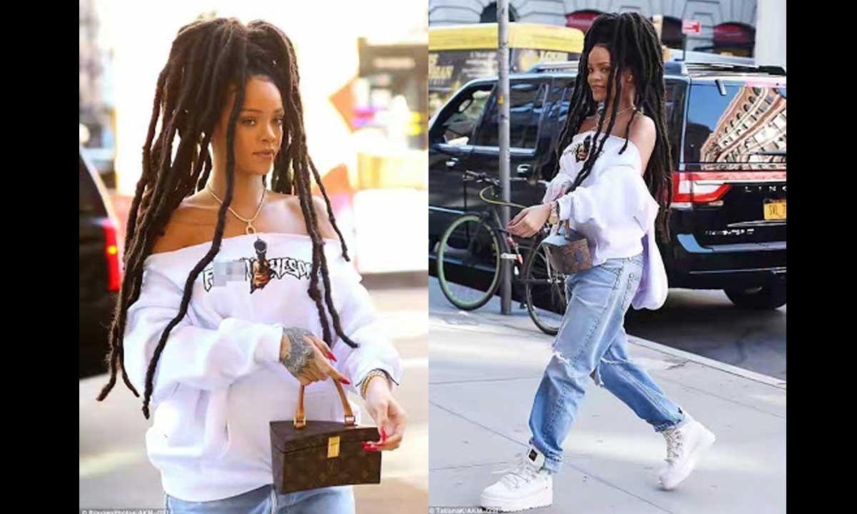 Bad Girl Rihanna like she is fondly called shocked many when she debuted her long thick dreads.    Although many feels it doesn't suit her, but the singer is really loving her new look. This new look has been giving her so much attention and just as we know, Riri loves attention quite a lot.