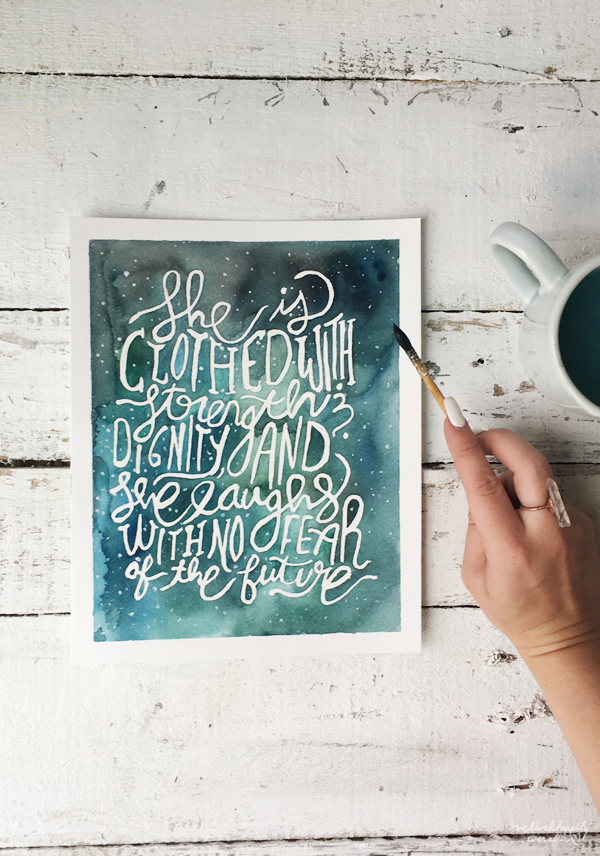 Proverbs 31 Woman Watercolor Tutorial