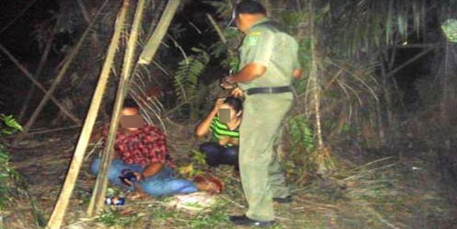 Indehoi Dikebun Sawit, Sepasang Remaja Ditangkap Warga