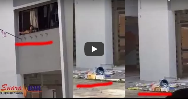 Ini Pengakuan TKW yang Marah - Marah Dan Lemparkan Barang Dapur Majikan Dari Jendala