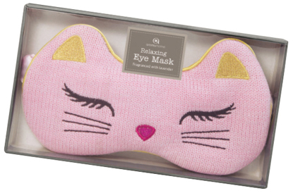 Lavender-scented cat eye mask