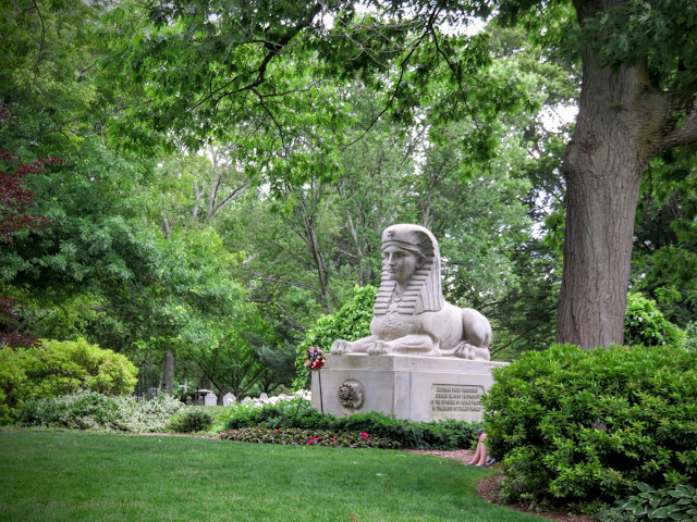 The Sphinx of Mount Auburn Cemetery in Cambridge, Massachusetts