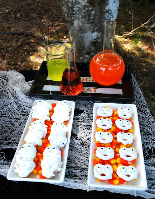 Serve up some easy Halloween spooky treats at your Halloween party