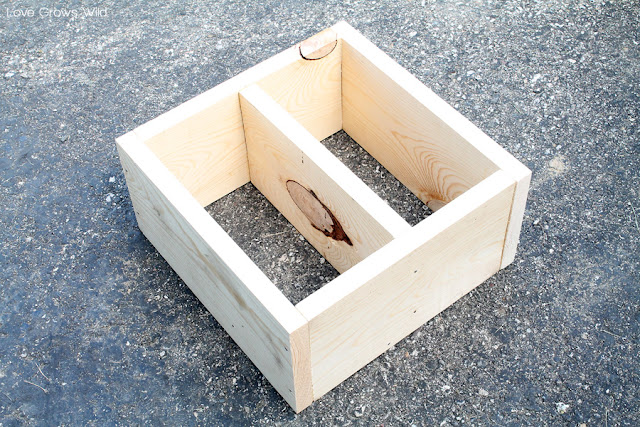 LoveGrowsWild.com | DIY Wood Crate Homework Station