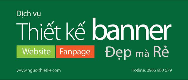 Dịch vụ thiết kế banner online chuyên nghiệp, đẹp chỉ từ 150,000đ