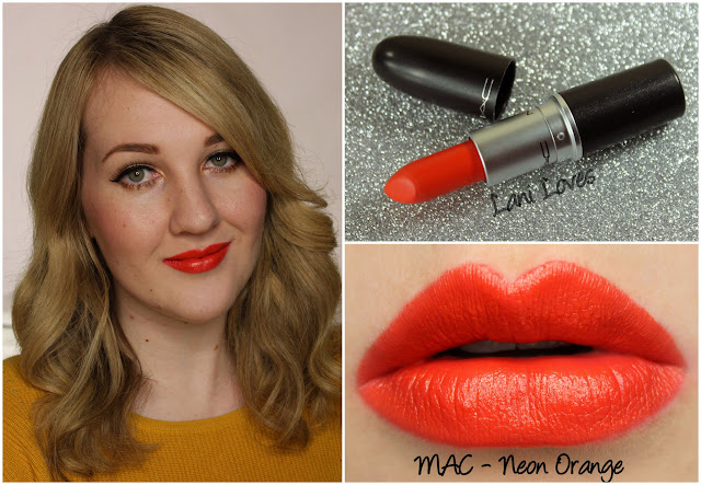 MAC Neon Orange lipstick swatch