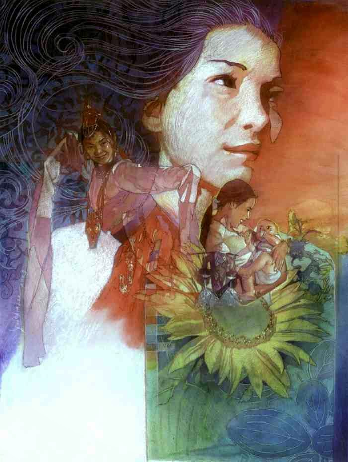 Малайзийский художник. Gan Chin Lee