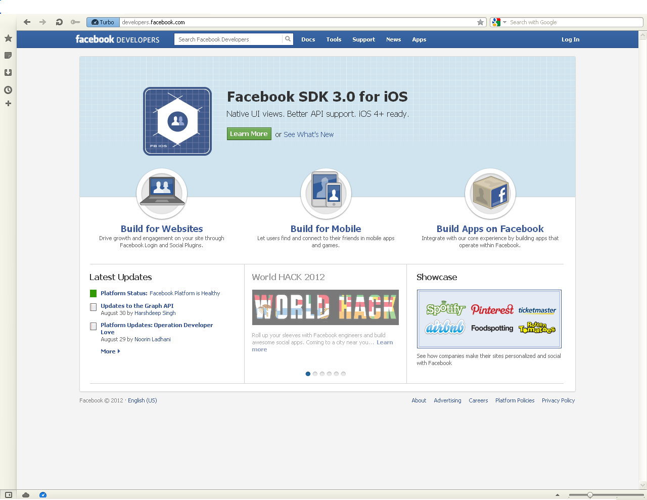 The  Blog: Using Facebook login in  application
