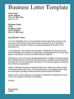 business letter sample pdf