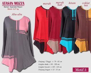 Atasan wanita model terkini harga murah berkualitas - mozza motif 3