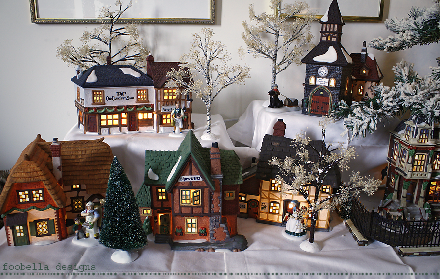 Foobella designs: Dickens Village Christmas Past