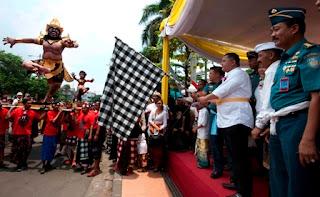 Wawali Surabaya berangkatkan Pawai Ogioh-ogoh