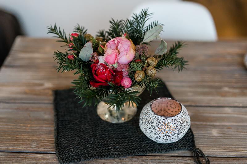 Wochenendblümchen mit Eisrosen, Friday Flowerday, DIY Idee für Weihnachten, Pomponetti