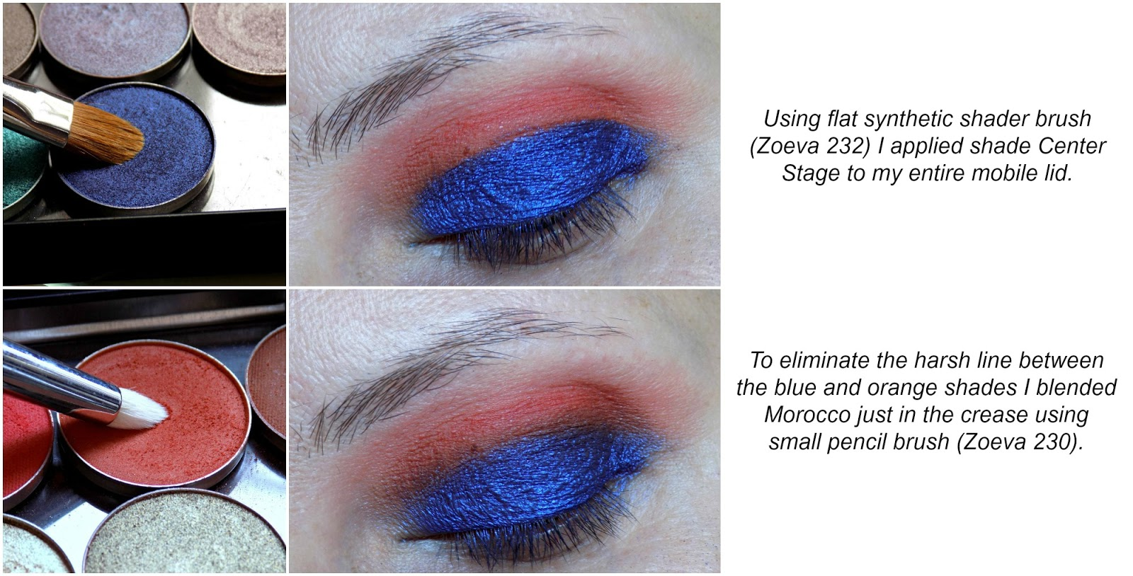 Eye makeup tutorial: blue & orange