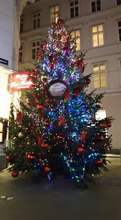 Christmas tree in Vienna, Austria by Emily Gottfried