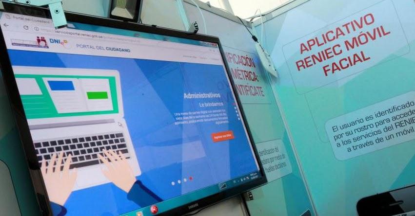 RENIEC: Nuevo portal web permitirá realizar más de 30 trámites en línea - www.reniec.gob.pe