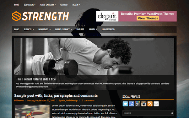 Strength Free Blogger Template