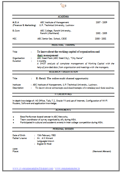 Free Resume Examples Samples In Various Online Formats Over 10000 Cv And Resume Samples With Free Download Sales