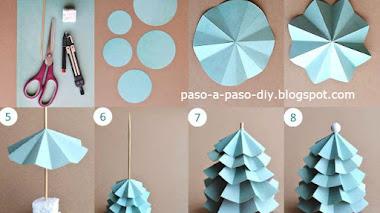 Cómo hacer un arbolito de Navidad en cartulina / DIY