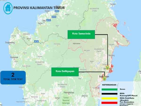 Lokasi Tes Cat BKN Propinsi Kalimantan Timur