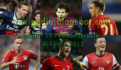 Daftar 50 Pemain Terbaik Dunia Tahun 2013