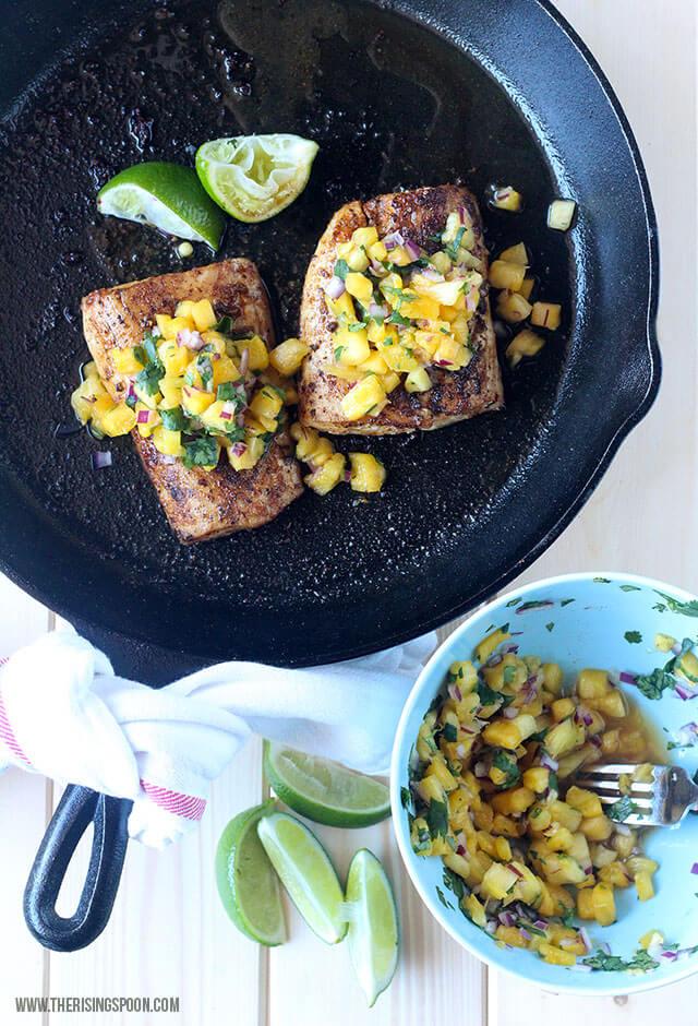Healthy & Cheap Fish Recipe: Pan-Seared Mahi Mahi with Pineapple Salsa