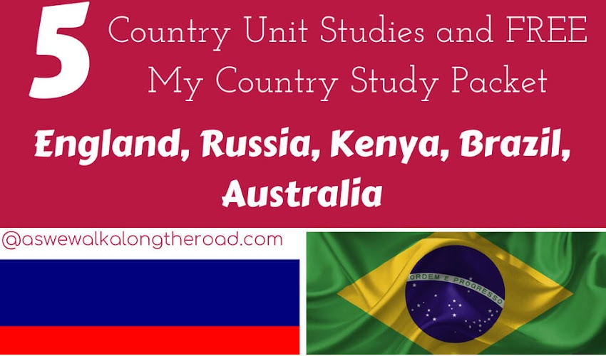 Explore Geography With Five Country Unit Studies...And a FREE My Country Study Packet