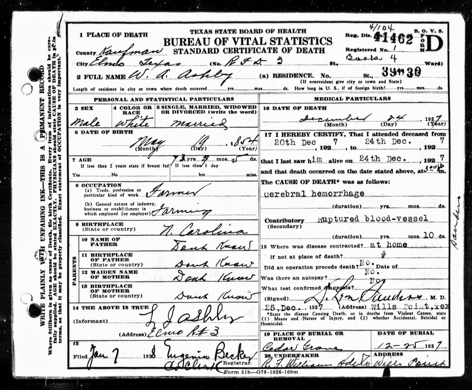 Amy\'s Family History: William Wellington \