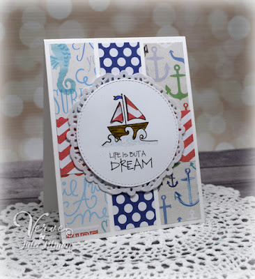 Handmade card by Julee Tilman featuring Verve Stamps