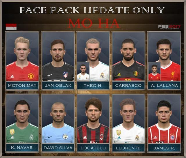 Face Pack Update PES 2017