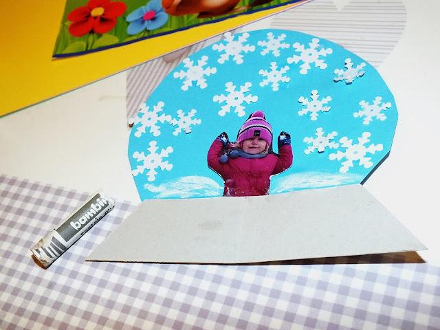 Zimowe kule śnieżne-prace plastyczne