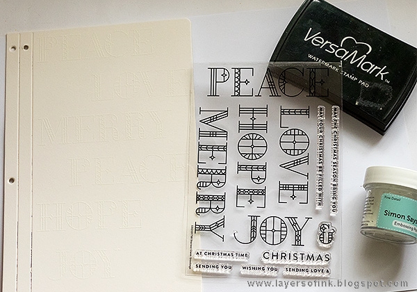 Layers of ink - Christmas Journal Tutorial by Anna-Karin with Making Spirits Bright SSS products