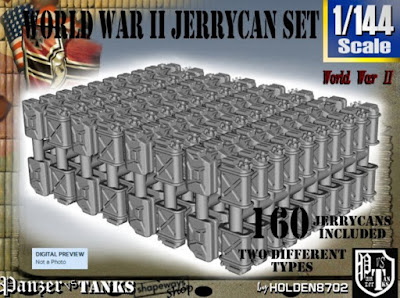 1-144 US & German Jerrycans Set picture 1