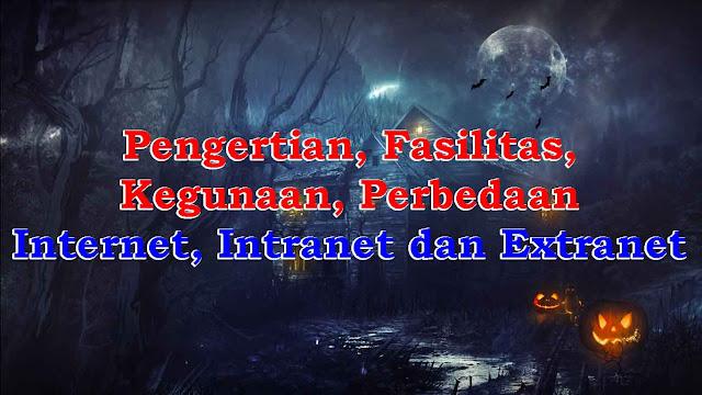 Pengertian, Fasilitas, Kegunaan, Perbedaan Internet, Intranet dan Extranet