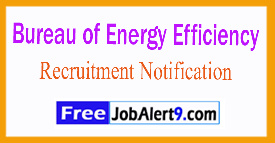BEE Bureau of Energy Efficiency Recruitment Notification 2017