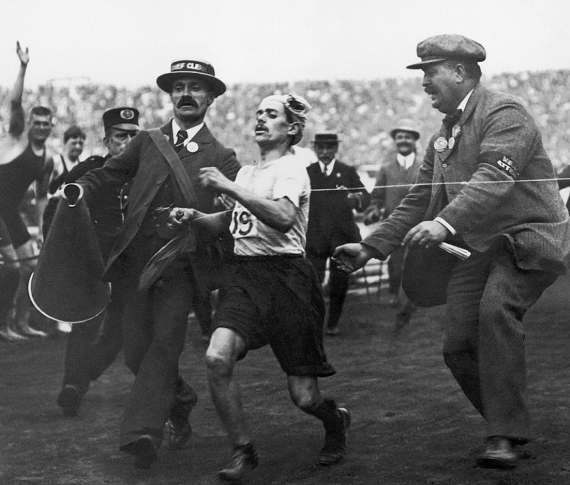 Jocs Olímpics, Londres, 1908, marató, Dorando Petri