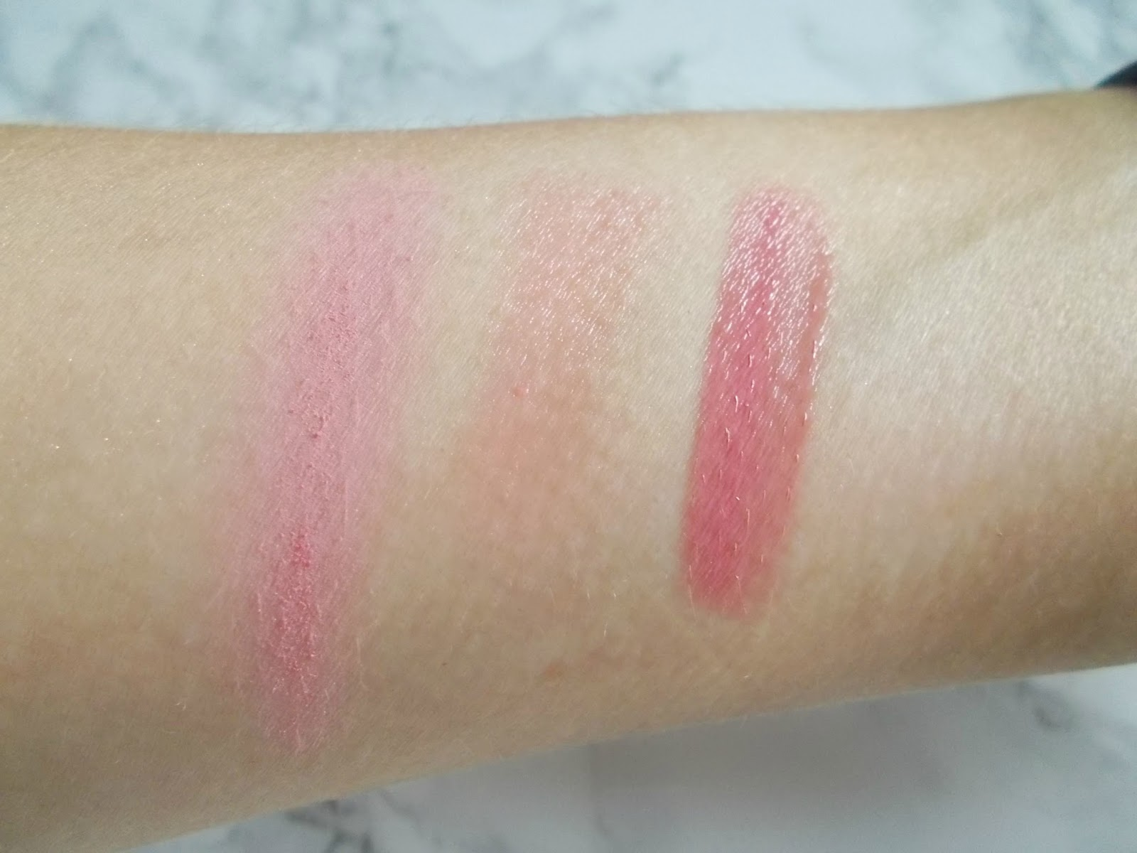 #glossierpink the balm down boy blush benefit posie balm too faced melted peony swatches