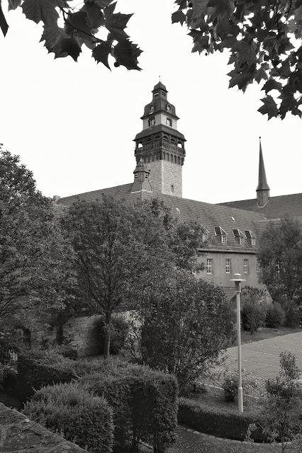 Blick zum Turm des Zeitzer Rathauses