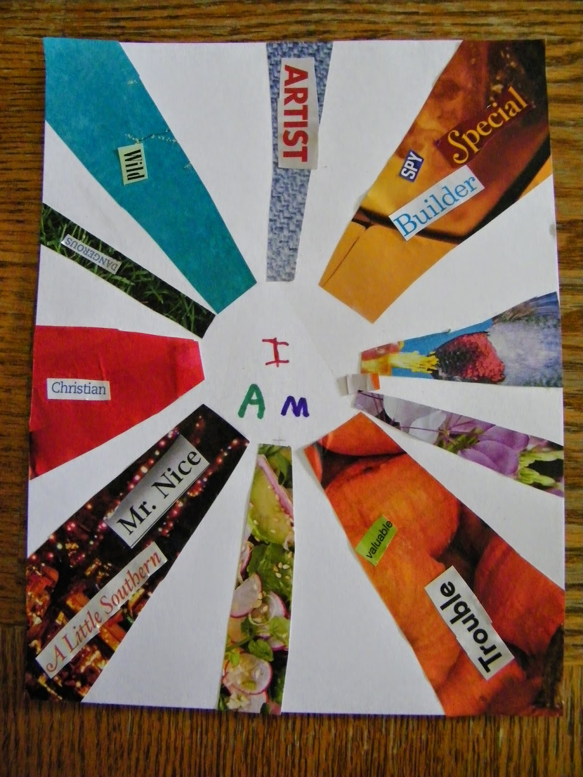 Eclectic Momma I Am Collage Art Projects