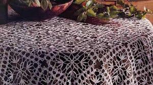 Hermoso cubre mantel al crochet / esquemas