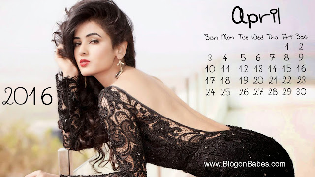Sonal Chauhan April 2016 Calendar Wallpaper