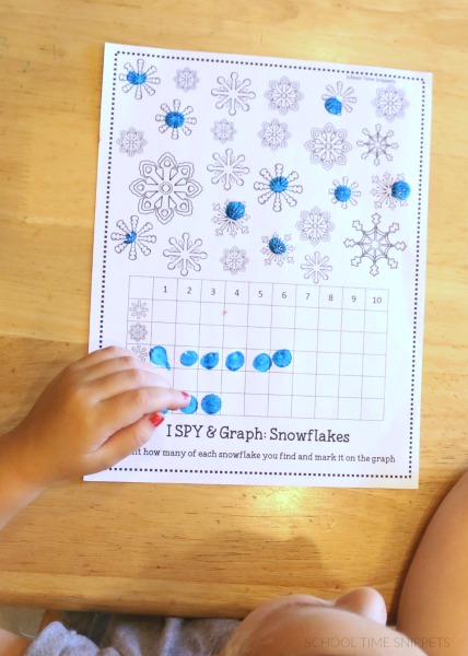 snowflake math worksheet