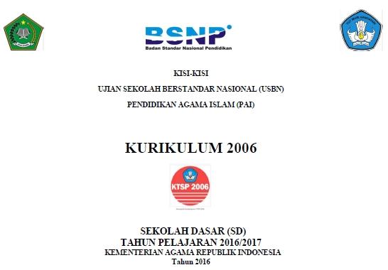 Kisi Kisi Ujian Uasbn Pai Sd 2017 Ktsp Info Pendidikan Indonesia