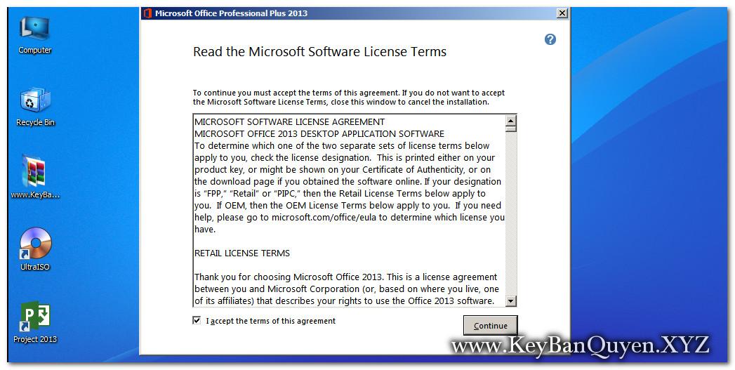 Hướng dẫn cài đặt Microsoft Office Pro Plus 2013