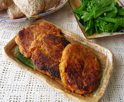 Smoked Trout and Sweet Potato Cakes