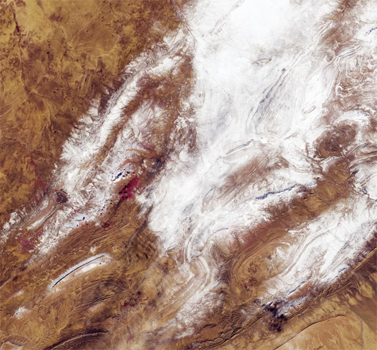 Nevou no Deserto do Saara e os satélites registraram tudo - Img 1